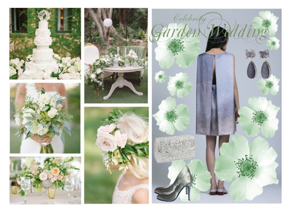 Online personal shopping Style board for Garden Wedding guest