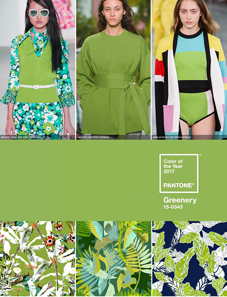 Color of the year 2017 Greenery Pantone