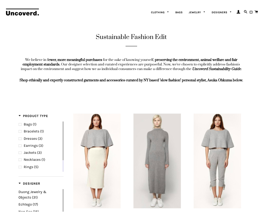 Sustainable Fashion Edit Uncoverd x Asuka Ohkuma L